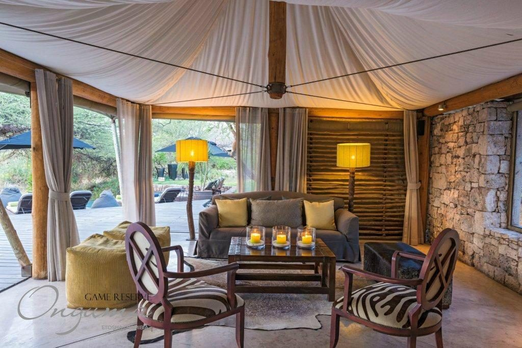 Onguma Tented Camp lounge