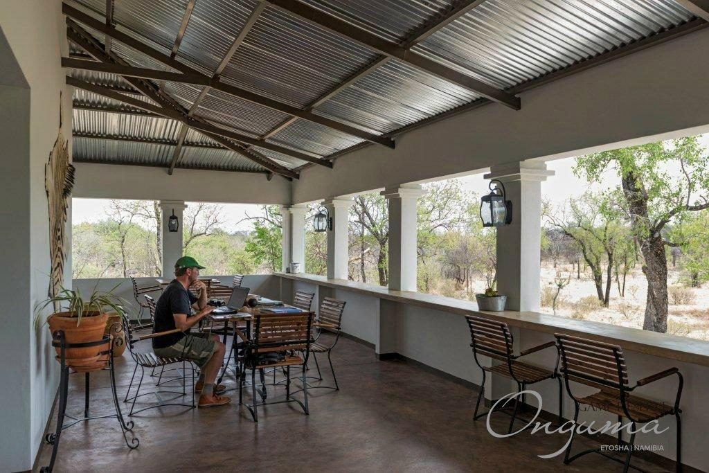 Restaurant verandah at Onguma Luxury Tamboti Campsite