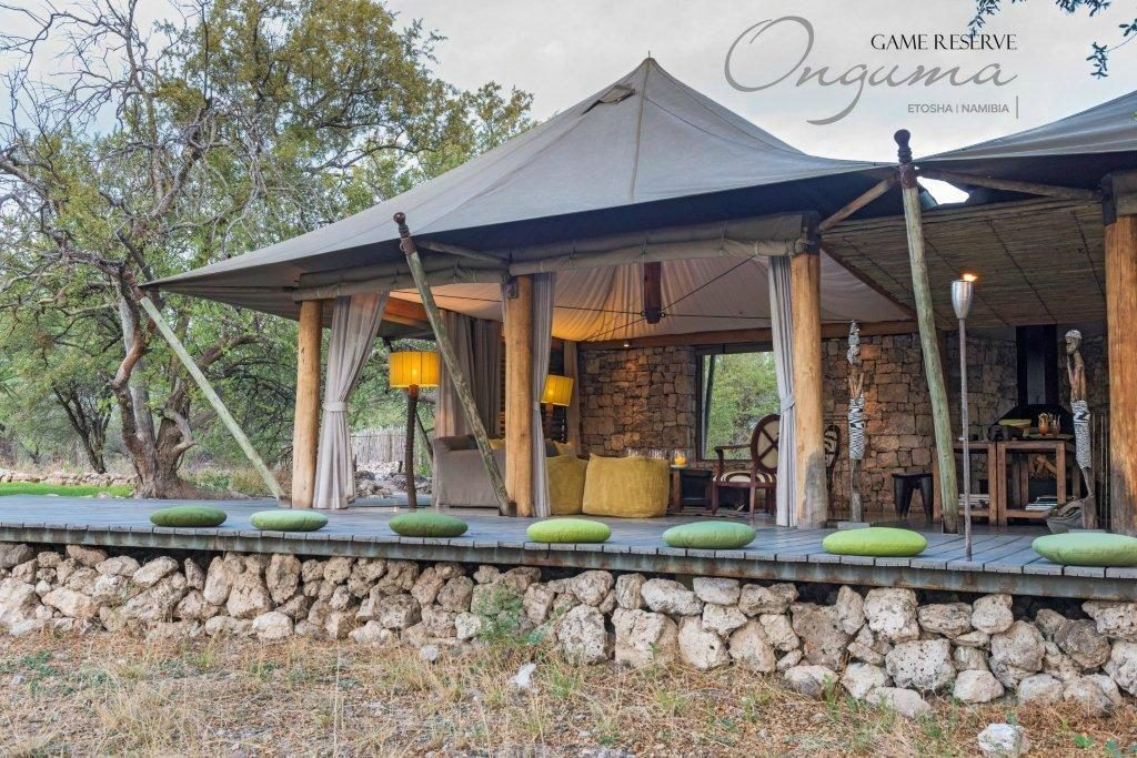Main tent structure at Onguma Tented Camp