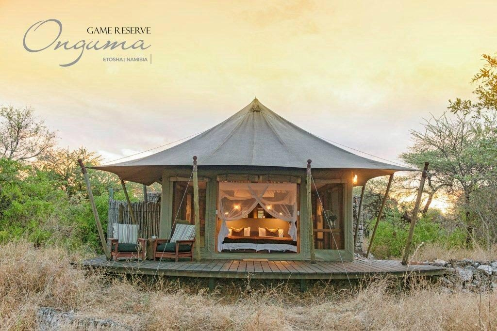 Exterior view of Onguma Tented Camp tents
