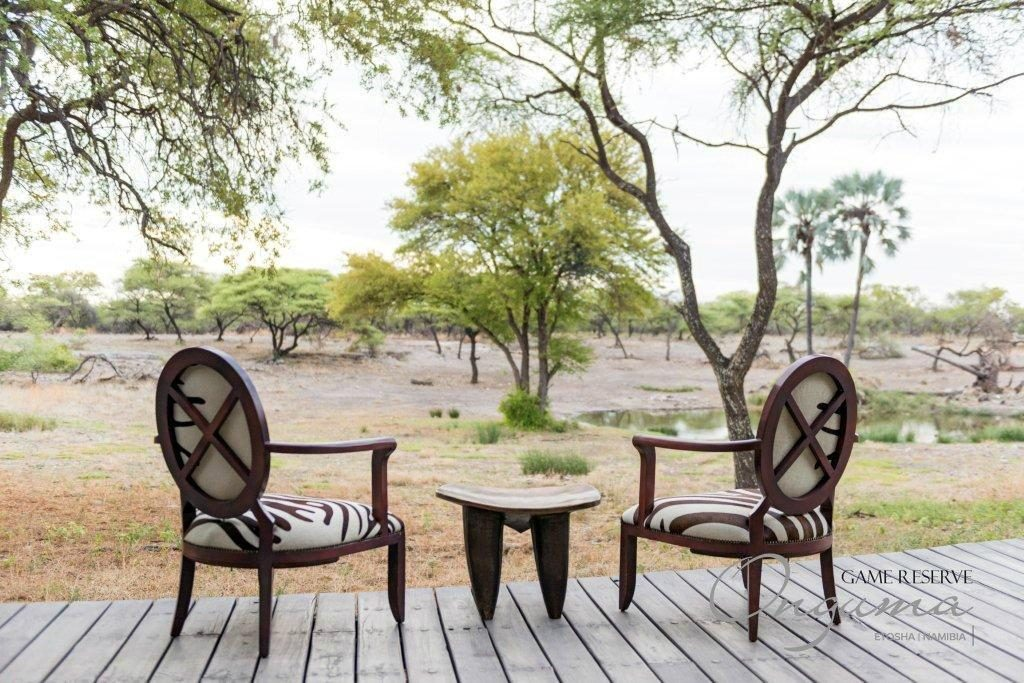 View over the Onguma Tented Camp waterhole