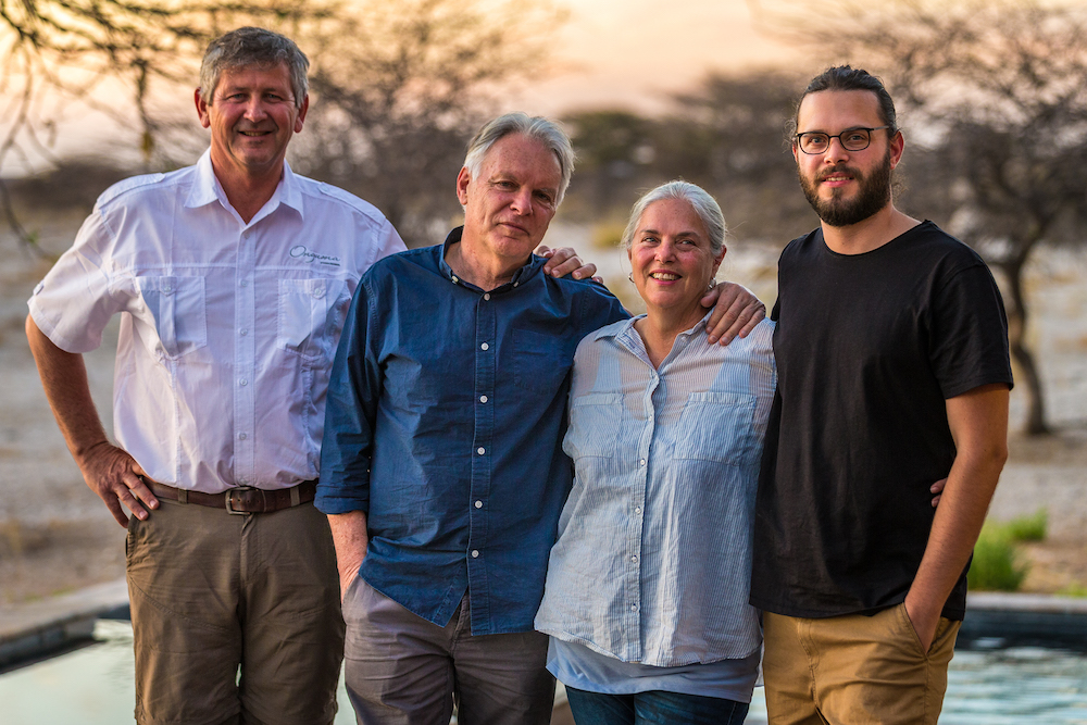 Peter Grey, wife, son & Fritz Vorster Onguma Safari Camps