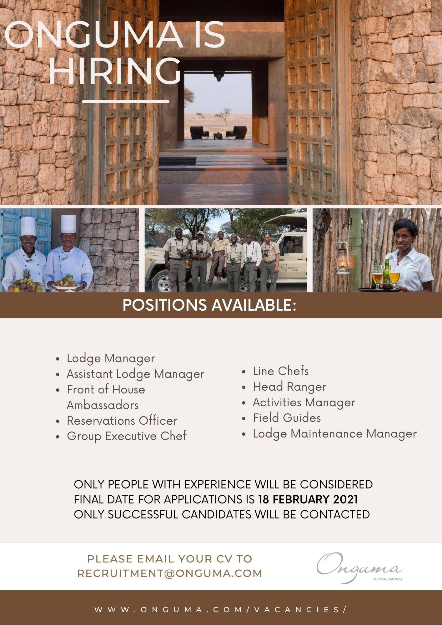 onguma vacancies