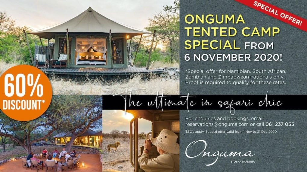 Onguma Tented Camp Special